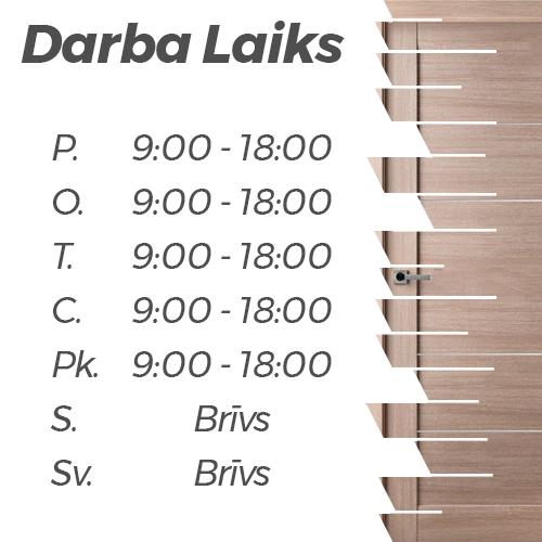 Baltijas Durvis veikala darba laiks