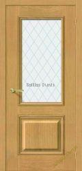 Остеклённая шпонированая дверь