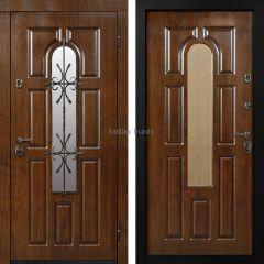 Металлическая дверь с МДФ Мадрид Дуб темный + Дуб темный