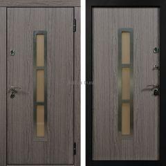 Металлическая дверь с МДФ NORWAY дуб седой + дуб седой